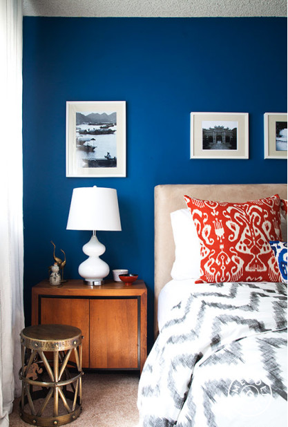 design fixation navy blue bedrooms with pops of orange