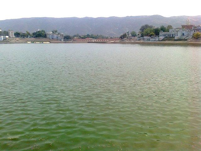 Pushkar pond view