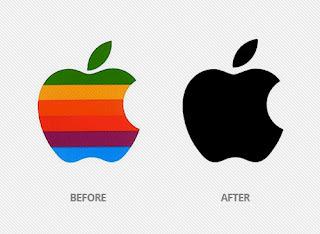 évolution du logo apple