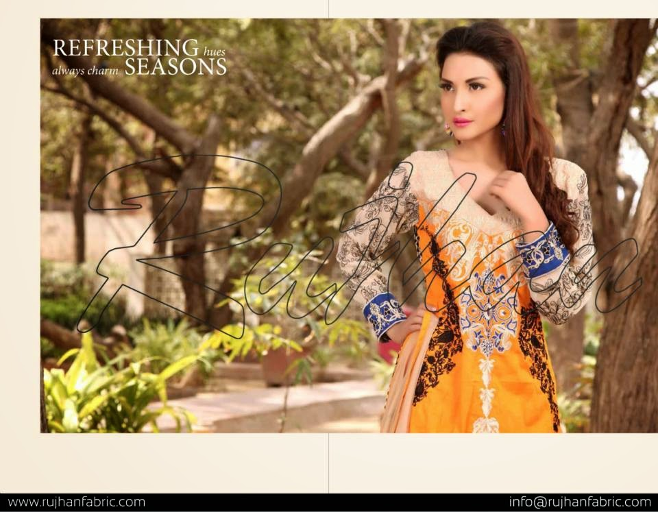 Pakistani lawn suits 2015 collection