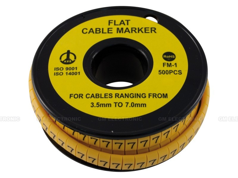 Flat cable marker