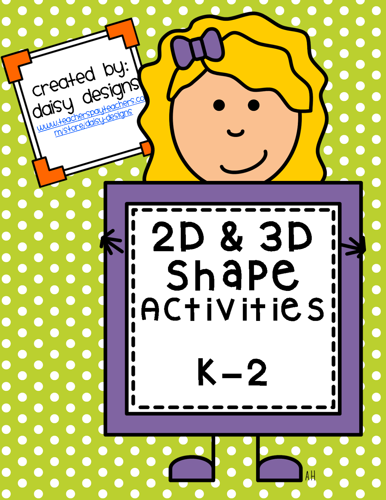 https://www.teacherspayteachers.com/Product/2D-and-3D-Shape-Activities-for-K--1163148
