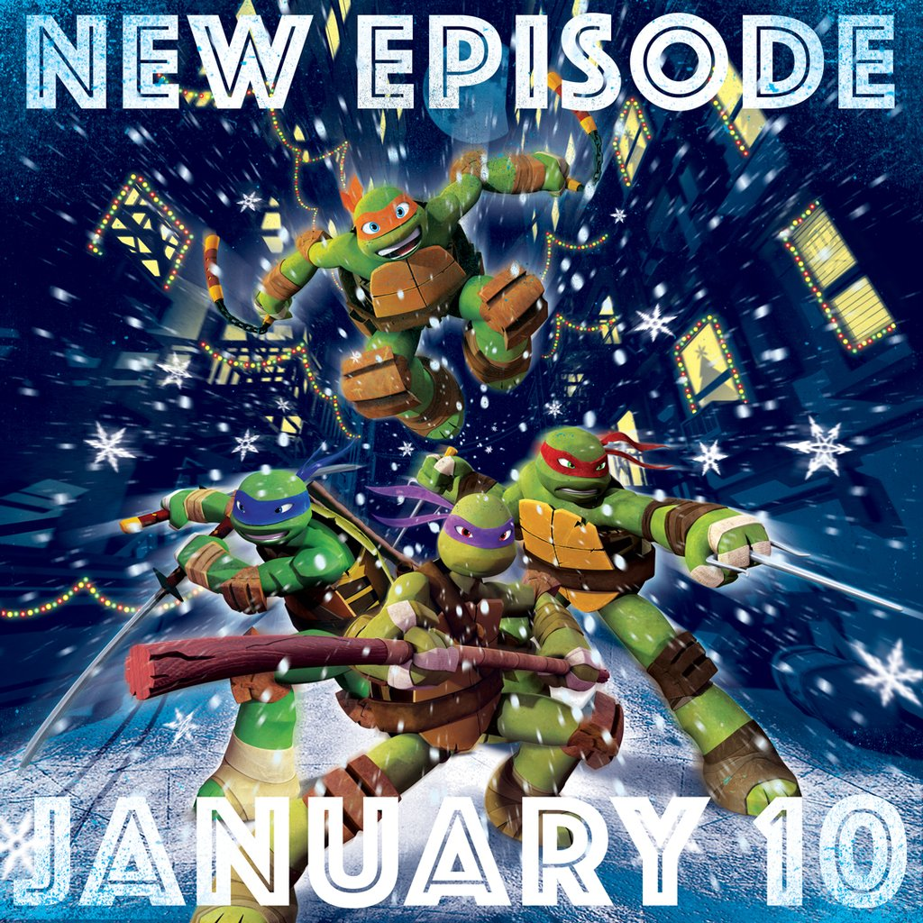 Nickalive nickelodeon usa to premiere more new episodes from merry christmas tmnt fans heres your present from us happy to announce the turtles return on january 10th sciox Image collections