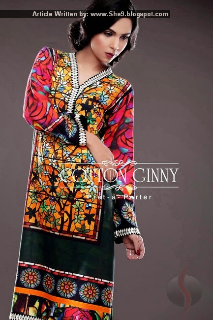 Cotton Ginny winter digital print collection 2015