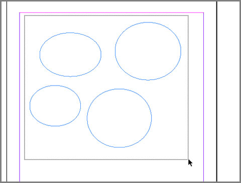 how to make path a frame indesign