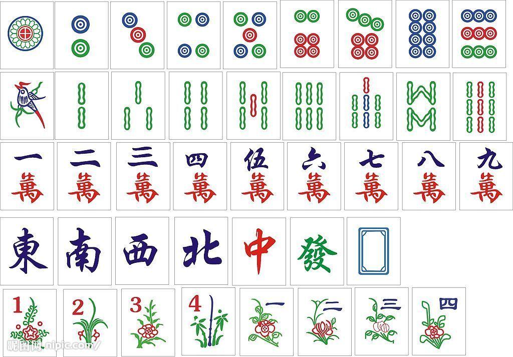 ไพ่จีน ชุดไพ่นกกระจอก พยากรณ์ ทำนาย ชุดไพ่มาจอง mahjong