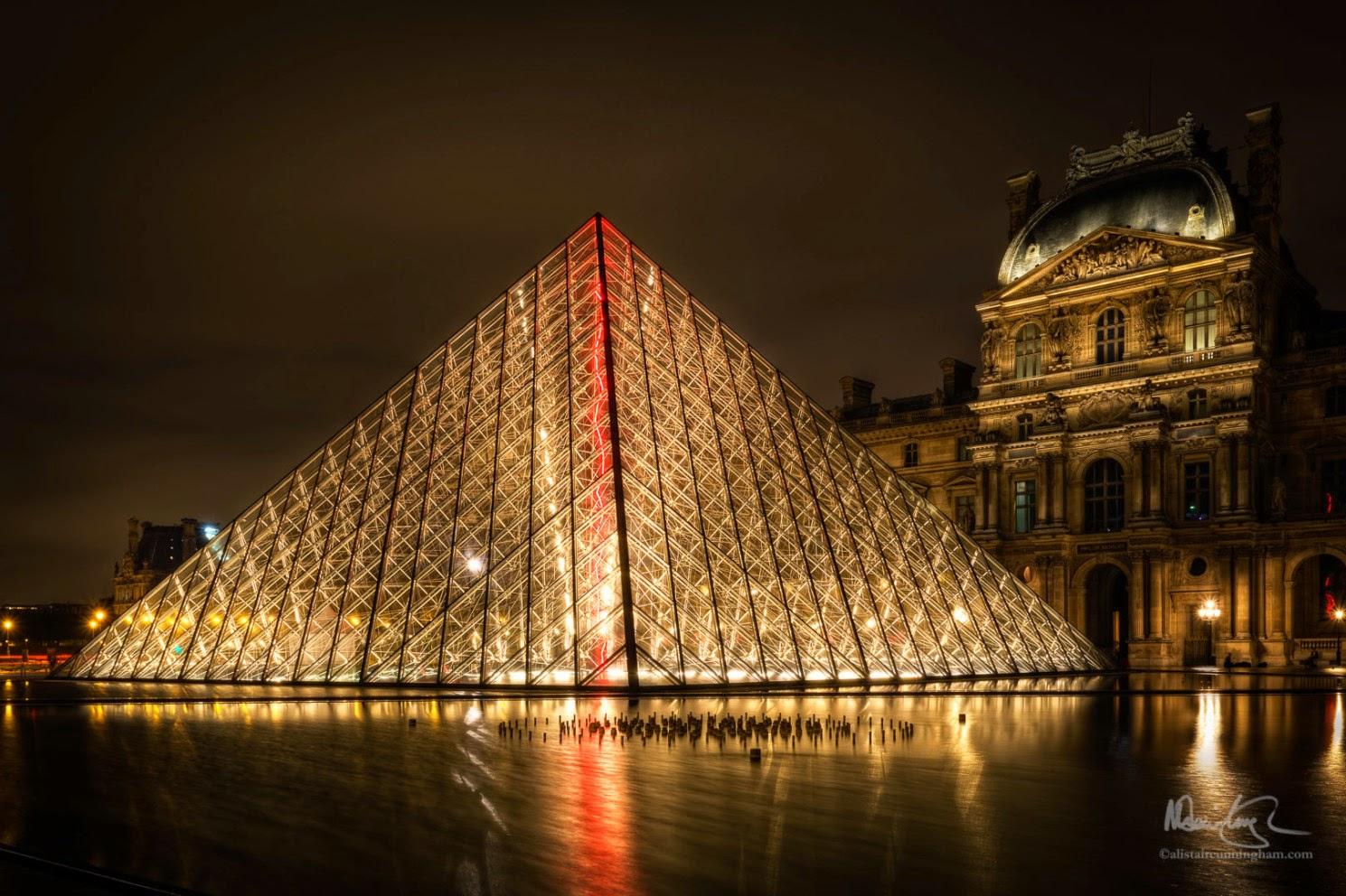 Alistair Cunningham, fotografía HDR, Pirámide del Louvre, París