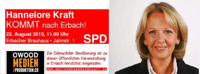 Hannelore Kraft in Erbach Odenwald