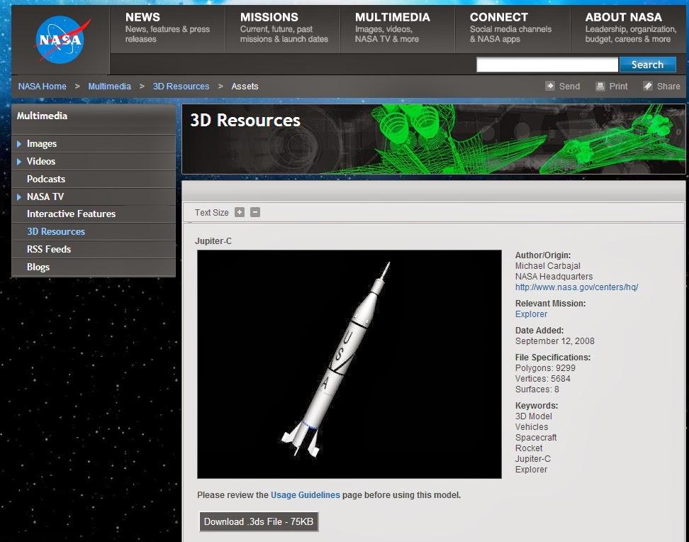 Model Rocket Building Nasa 3d Models Web Page