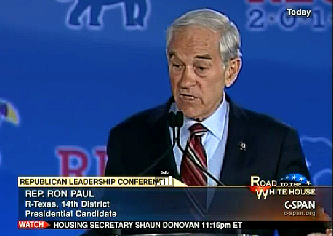Ron Paul at 2011 Republican Leadership Conference