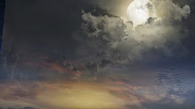 Fondo Noche Magica con Luna Llena