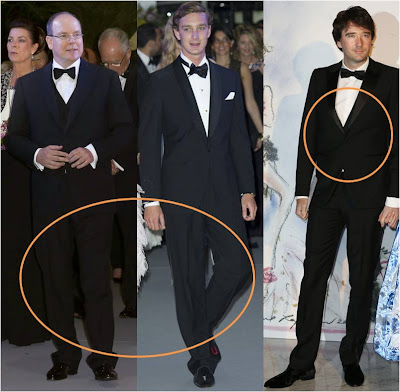 Alberto II de Mónaco, Pierre Casiraghi y Antoine Arnault, director general de la marca Louis Vuitton y administrador del grupo LVMH