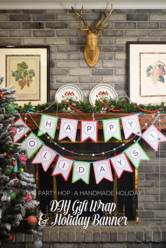 The Party Hop: Handmade Holiday DIY Gift Wrapping & Holiday Banners