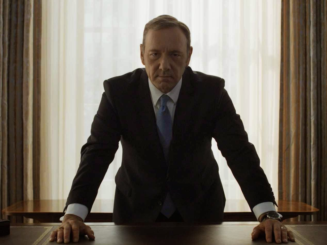 Kevin Spacey staring at you in House of Cards