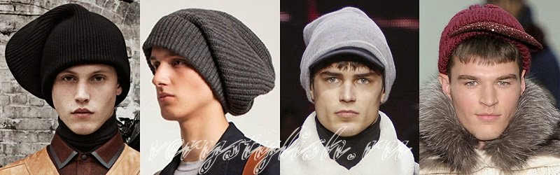 Fall Winter 2014 - 2015 Men's Knitted Hats Fashion Trends