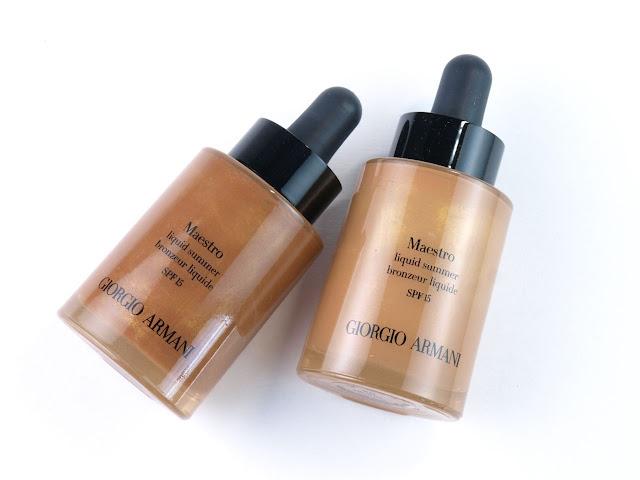 Giorgio Armani Maestro Liquid Summer Bronzers: Review and Swatches