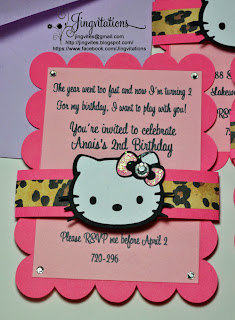 hello kitty leopard cheetah invitations