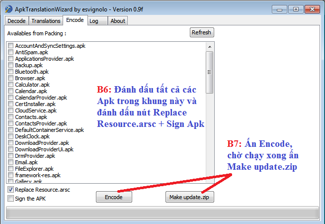 Buoc5 6 Hướng dẫn Việt Hóa Rom cho Android