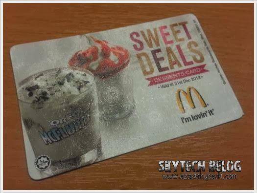 McDonalds Desserts Card Sweet Deal