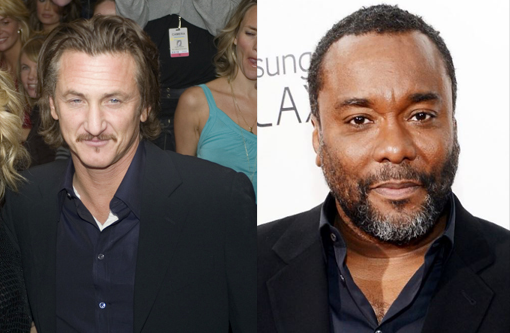 Sean Penn (left) and Lee Daniels. Penn was reported to have beat his then wife, pop singer Madonna, with a baseball bat.