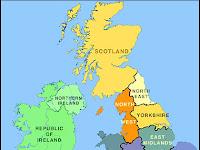Carte du Royaume-Uni Departement Région