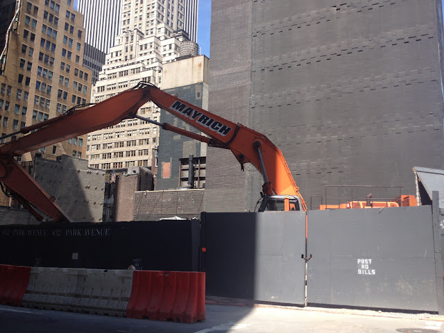Photo of gate into the construction site