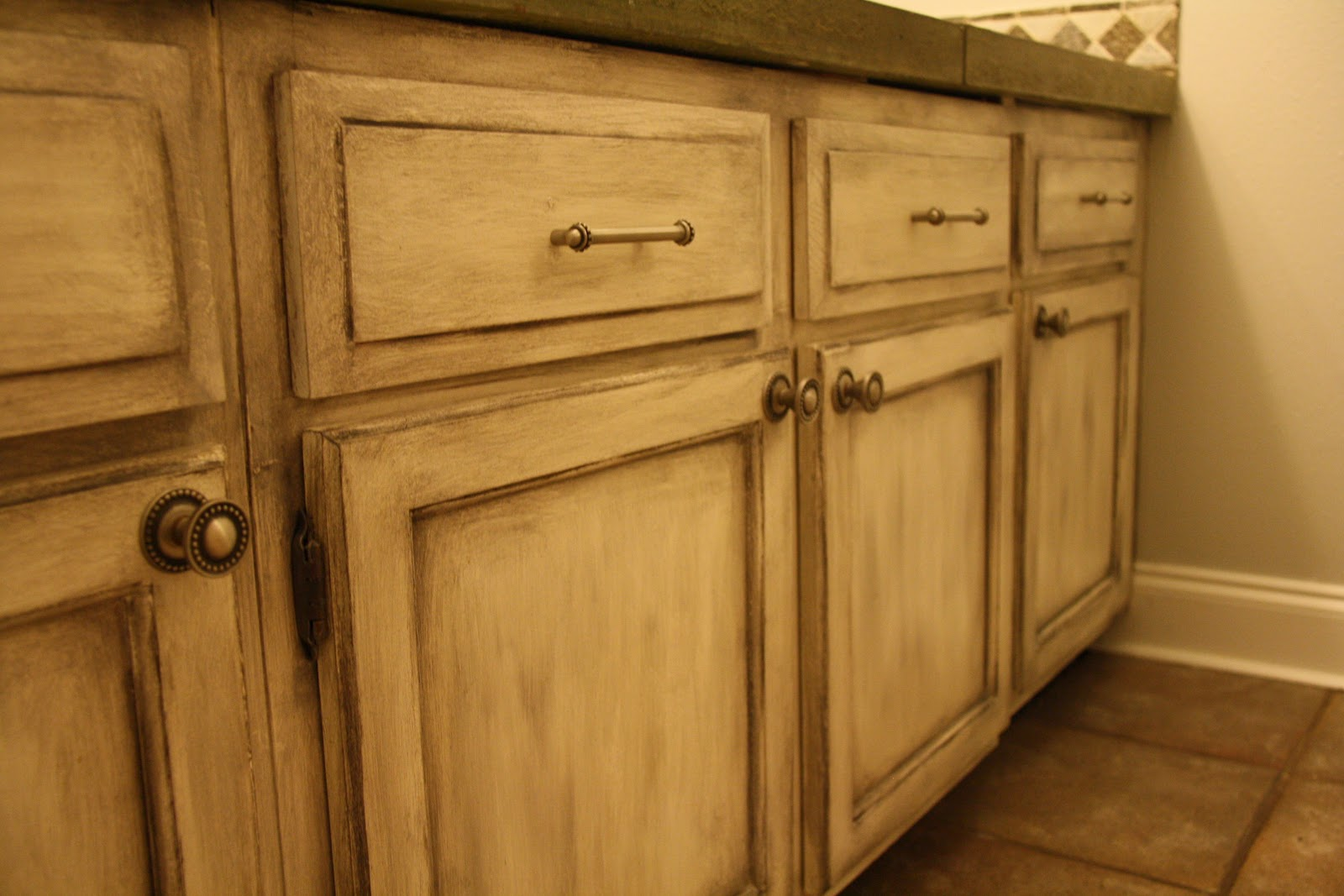 Kitchen cabinetry finishes haas kitchen cabinets house for Antique white finish kitchen cabinets