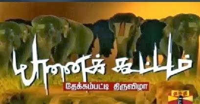 YAANAI KOOTTAM (Elephant Rejuvenation camp)- Special Program 29.12.2013 Thanthi TV