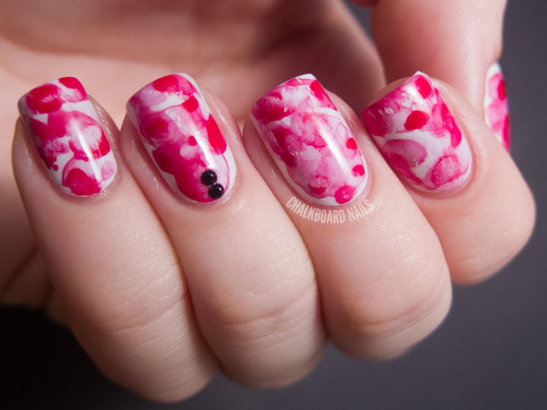 31dc2012 Day 01 Red Nails Chalkboard Nails Nail Art Blog