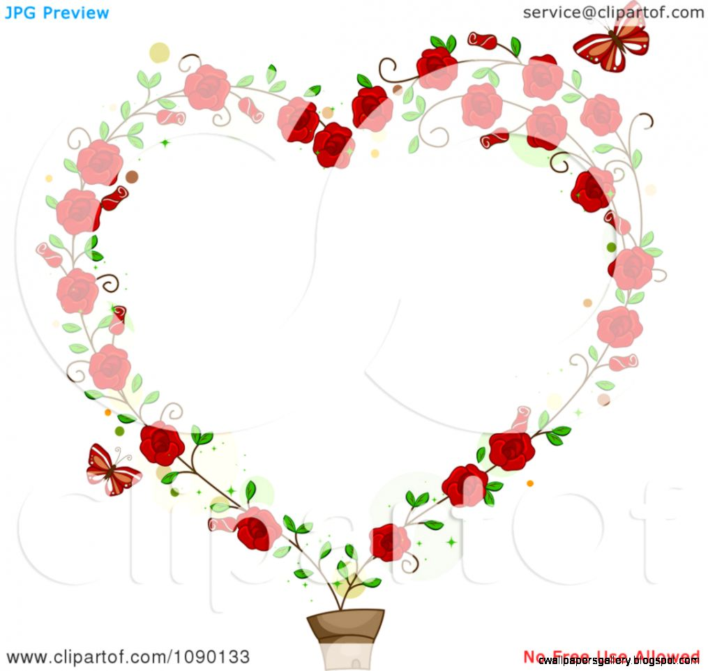 Rose Vine Border Clipart
