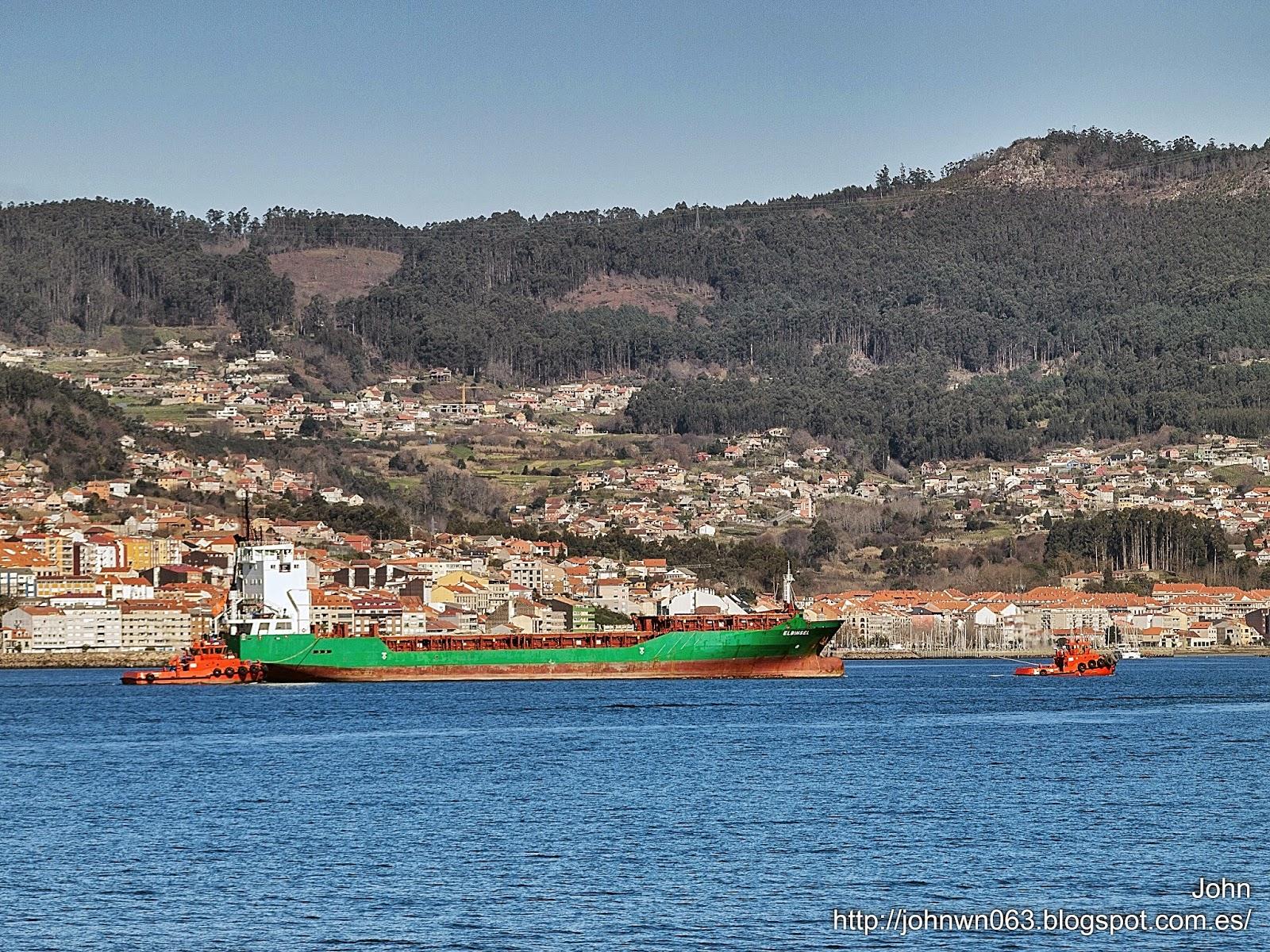 fotos de barcos, imagenes de barcos, elbinsel, portacontendores, remolcanosa, vigo