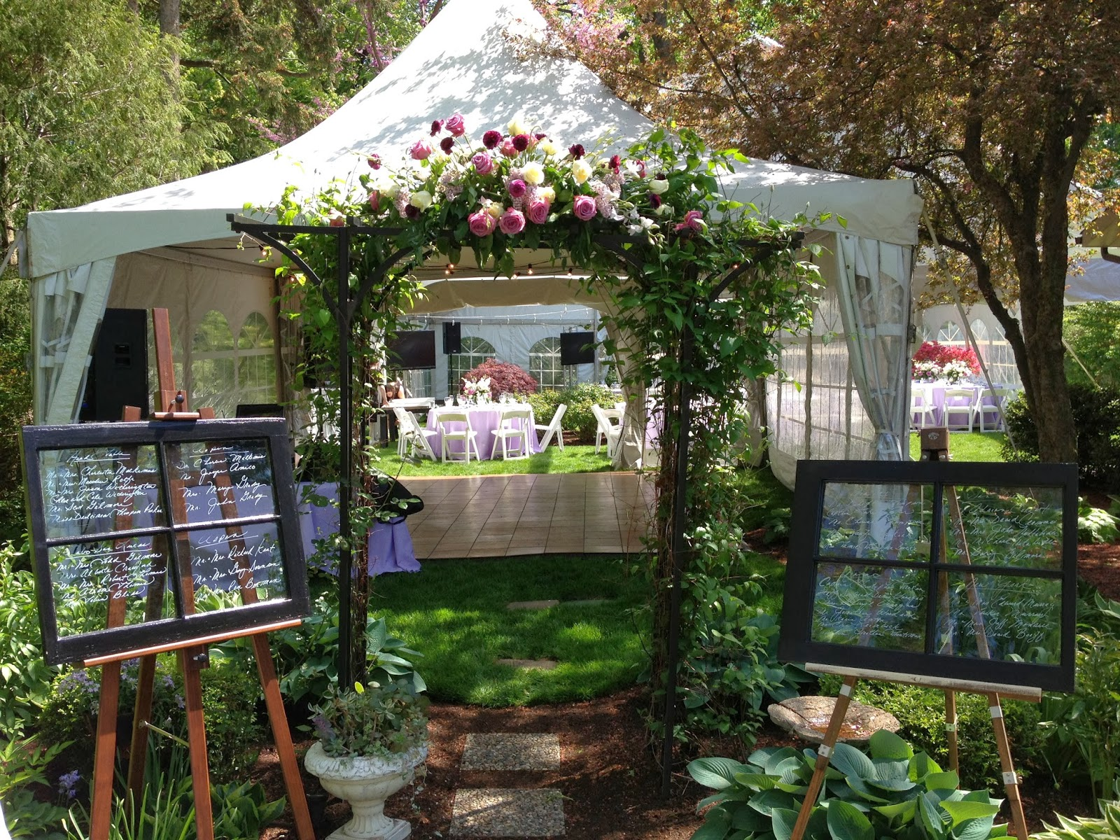 Tent Wedding In Backyard : Kirkbrides Talle and Charlestons Garden Backyard Tent Wedding