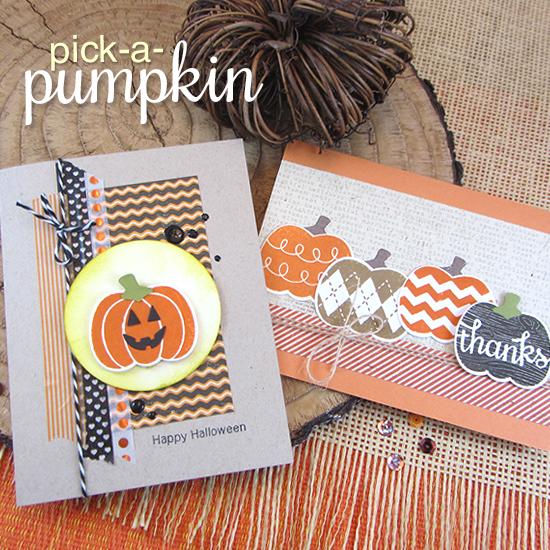 Pumpkin cards by Jennifer Jackson | Pick-a-Pumpkin stamp set by Newton's Nook Designs #newtonsnook #pumpkin