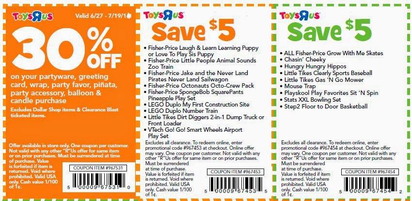 Toysrus coupons february 2019