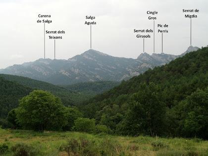 La Serra de Picancel des del mas Viladomat