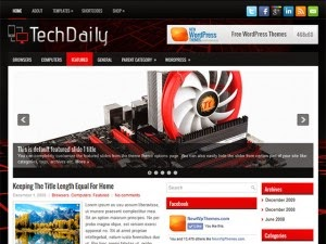 TechDaily - Free Wordpress Theme