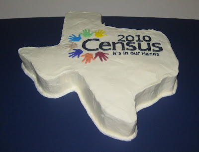 Texas Shaped Census Cake 2