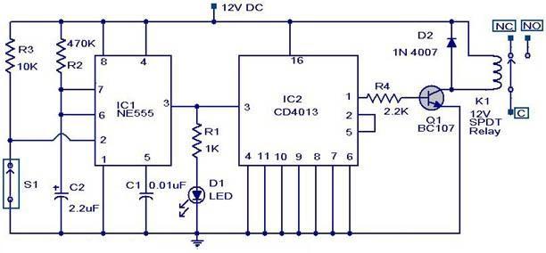 Magic    Switch    Circuit   IC    schematics