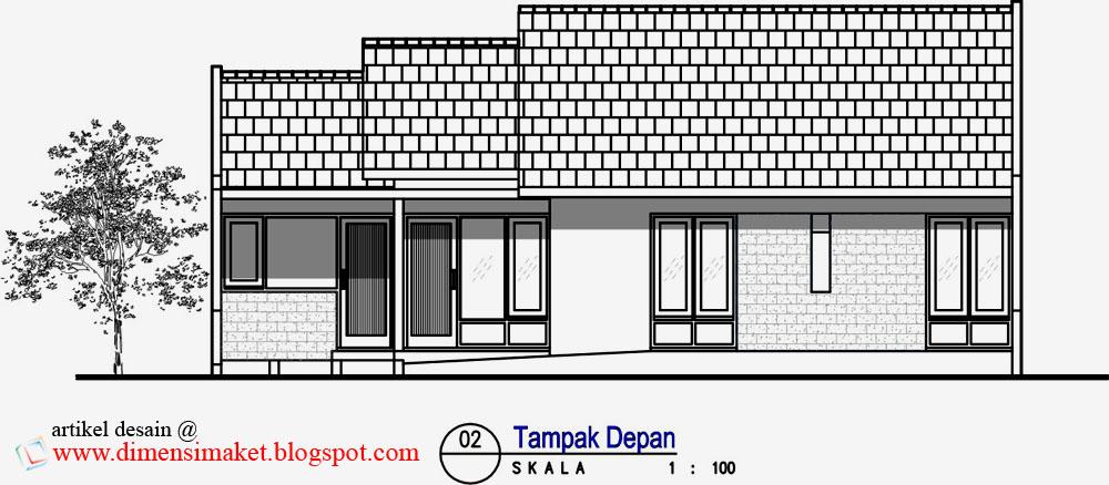 desain rumah 003 contoh desain rumah tinggal 1 lantai di