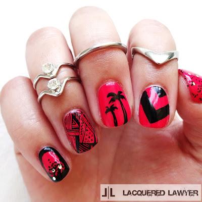 Hot Pink Paradise Nails
