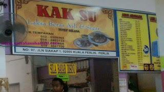 Laksa Kak Su belakang Maybank Kuala Perlis