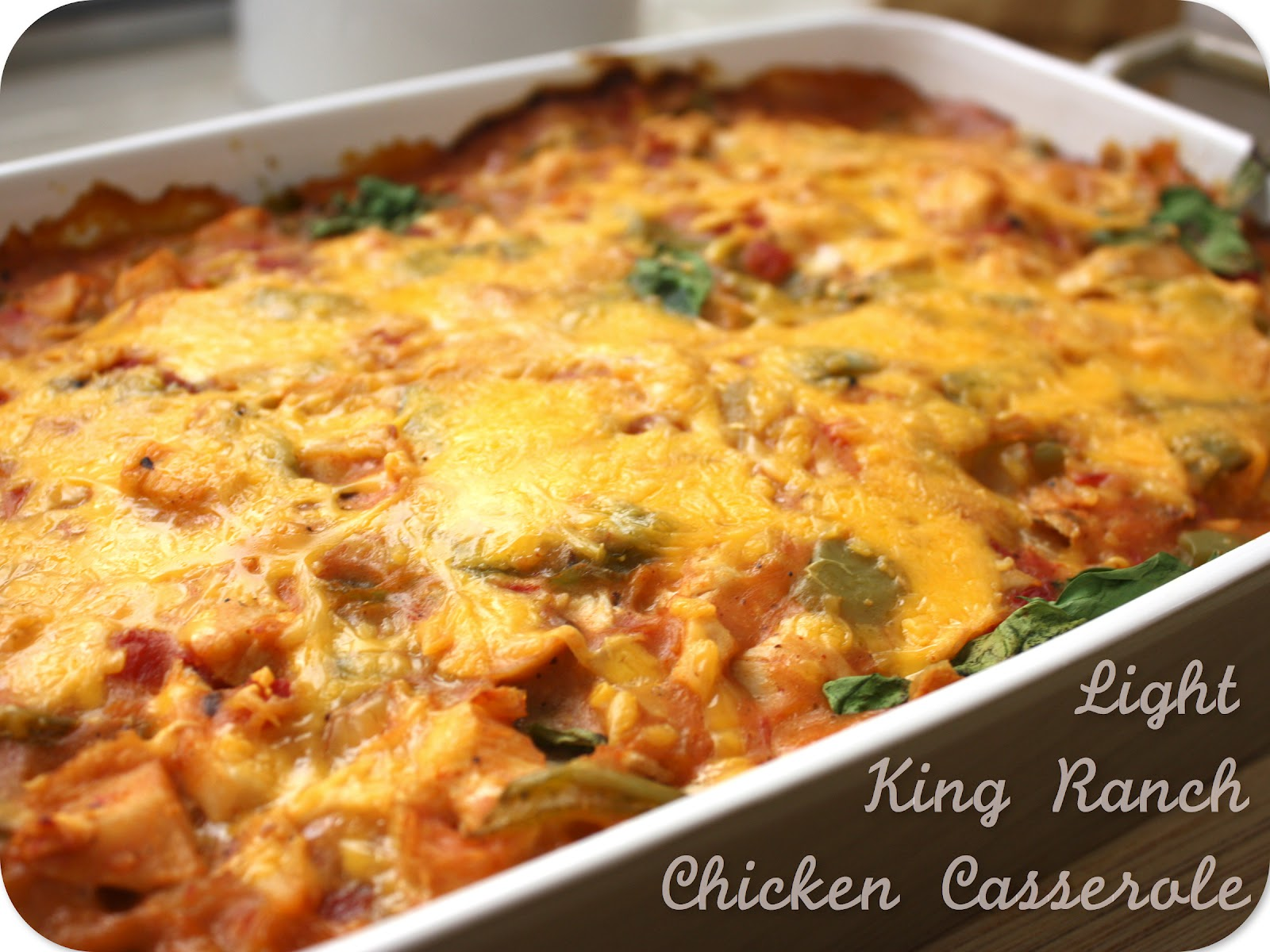 king ranch casserole Pulled pork king ranch casserole the classic casserole famous in texas gets a little bit of a makeover using tender juicy pulled pork layers of crisp tortillas, a chili powder spiked cream sauce with smokey tender pork, and melted cheese.