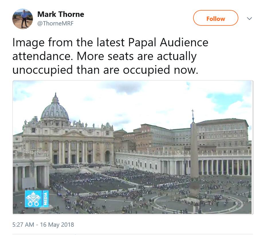 Otra Audiencia fallida de Bergoglio