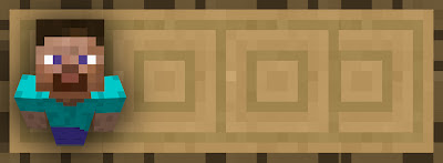 Steve Minecraft wood header website