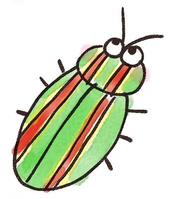 タマムシのイラスト(虫)