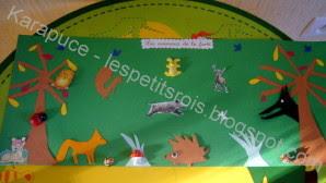 Mini-fresque les animaux de la forêt