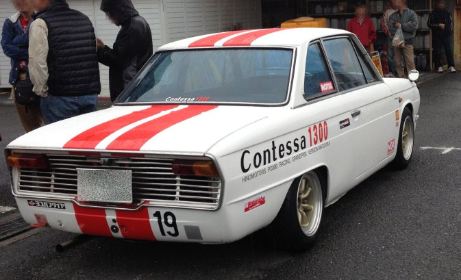 klasyki motoryzacji, coupe, red stripes, classic cars, Hino Contessa PD, クラシックカー