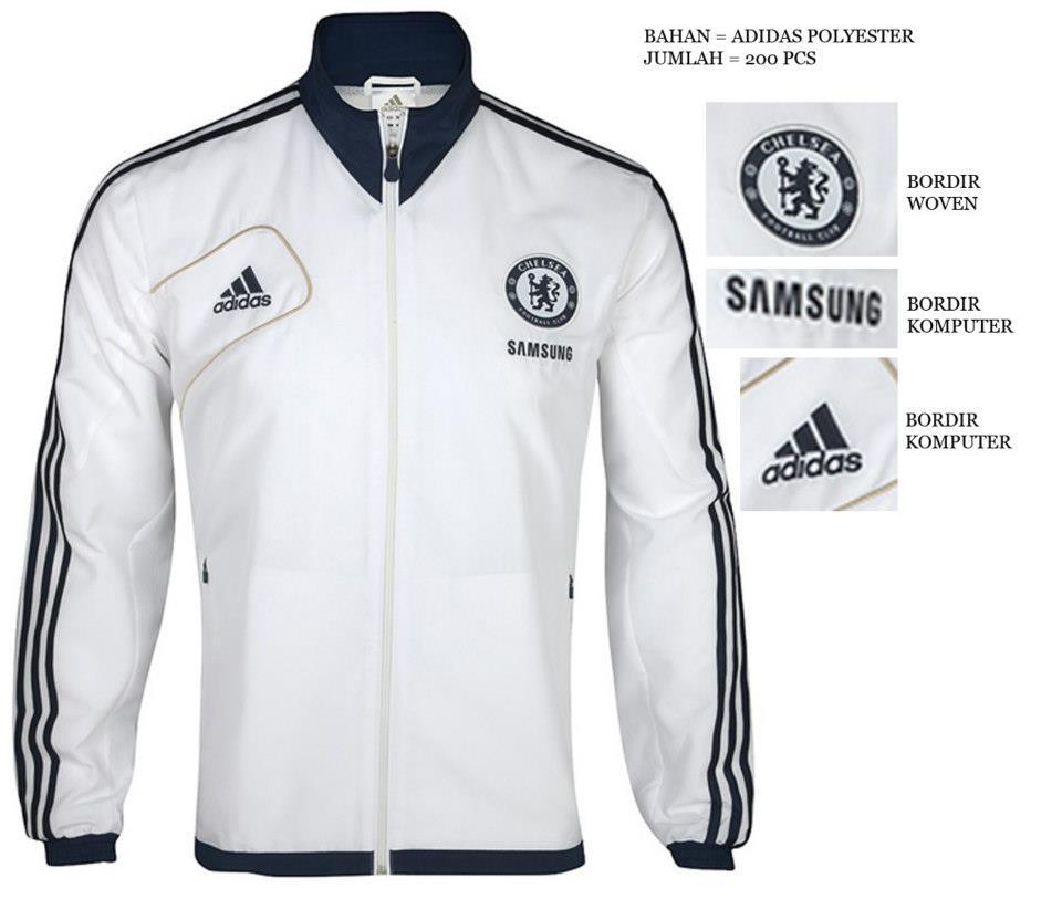 Ready stock jaket chelsea terbaru putih 2012 2013 | Jual ...