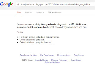 Cara mudah terindeks google