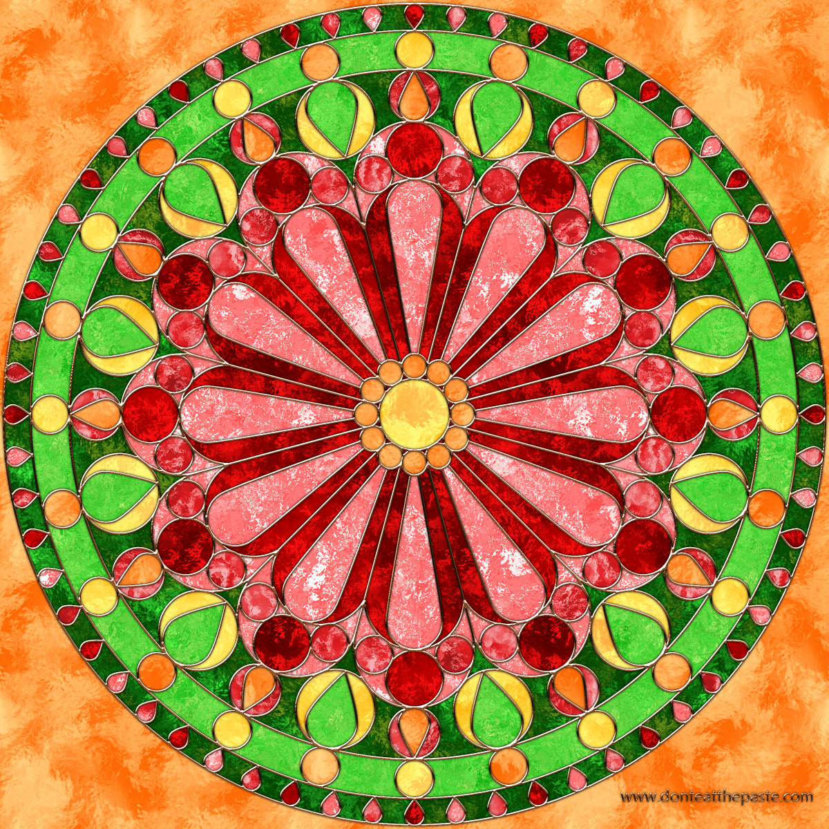 Don\'t Eat the Paste: Rose Windows- Mandala Coloring Pages